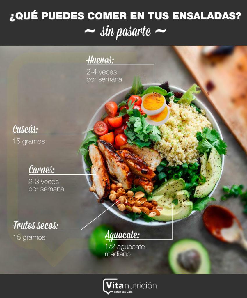 Qué puedes comer en tus ensaladas